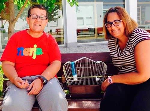 Jorge y su canario Currito. Ocio y discapacidad en PRODE