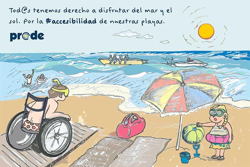 Por la accesibilidad en las playas